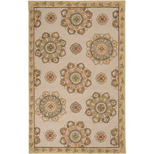 Rain Ivory Rectangular: 5 ft. x 8 ft. Rug