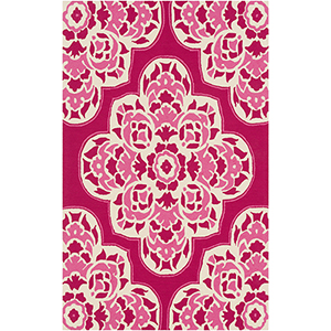 Rain Bright Pink Indoor/Outdoor Rectangular: 5 Ft. x 8 Ft. Rug