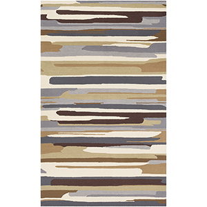 Rain Grey and Khaki Indoor/Outdoor Rectangular: 9 Ft. x 12 Ft. Rug