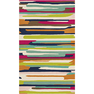 Rain Multicolor Indoor/Outdoor Rectangular: 5 Ft. x 8 Ft. Rug