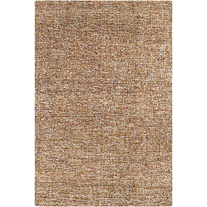 Robin Brown and Mustard Rectangular: 5 Ft. x 7 Ft. 6 In. Rug