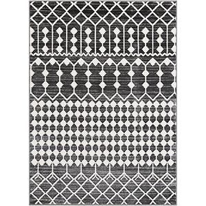 Rabat Charcoal Rectangular: 7 Ft. 10 In. x 10 Ft. 3 In. Rug