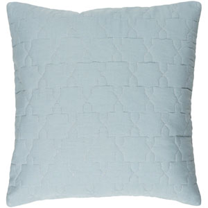 Reda Silver Gray and Silver 18 x 18-Inch Pillow Cover