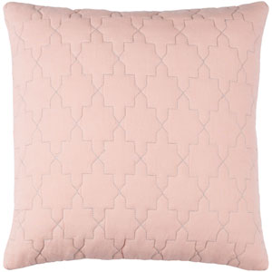 Reda Peach and Silver 18 x 18-Inch Pillow Cover