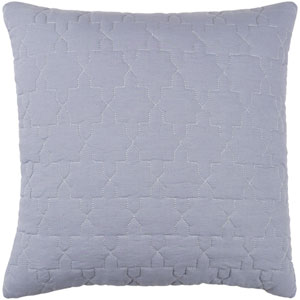 Reda Medium Gray and Silver 18 x 18-Inch Pillow Cover