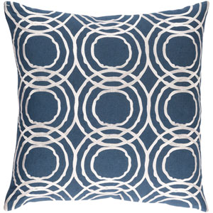 Ridgewood Navy and White 18 x 18 In. Throw Pillow