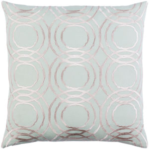 Ridgewood Mint and Cream 20 x 20 In. Throw Pillow