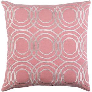 Ridgewood Pale Pink and Cream 22 x 22 In. Throw Pillow