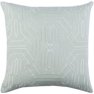 Ridgewood Mint and White 22 x 22 In. Throw Pillow