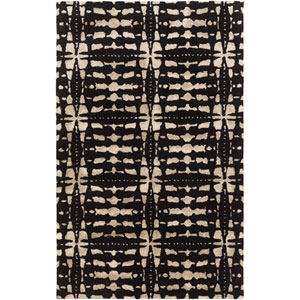 Ridgewood Black Rectangular: 4 Ft x 6 Ft Rug by Alexander Wyly