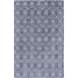 Ridgewood Gray and Black Rectangular: 2 Ft 6 In x 8 Ft Runner by Alexander Wyly