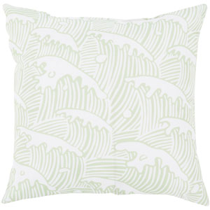 Washed by the Waves Mint 26-Inch Pillow with Poly Fill