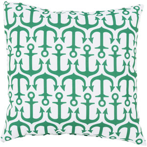Alluring Anchor Emerald and Ivory 26-Inch Pillow with Poly Fill