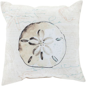 Striking Sand Dollar Moss 26-Inch Pillow with Poly Fill
