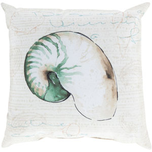Charm by the Sea Moss 26-Inch Pillow with Poly Fill