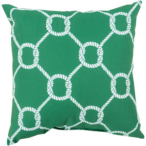 Tied up in Delight Emerald 20-Inch Pillow with Poly Fill