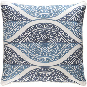 Regina Blue and White 22 x 22 In. Throw Pillow