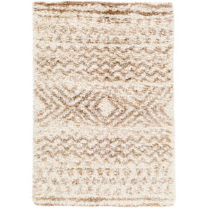 Rhapsody Neutral and Yellow Rectangular: 2 Ft. x 3 Ft. Rug