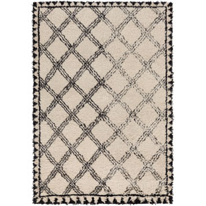 Riad Black and Neutral Rectangular: 6 Ft x 9 Ft Rug by DwellStudio