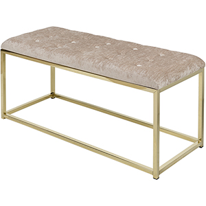 Rigsby Gold and Taupe Bench