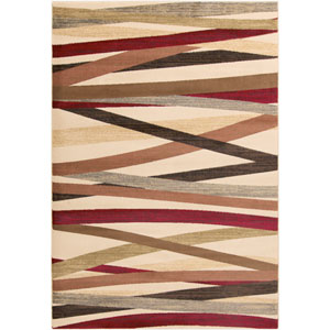 Riley Butter and Chocolate Rectangular: 2 Ft x 3 Ft 3 In Rug
