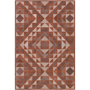 Ranch Brown and Black Rectangular: 5 Ft x 7 Ft 6 In Rug by Papilio