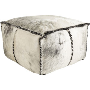 Ranger Black and Gray Pouf