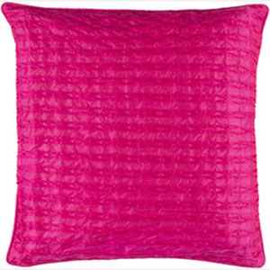 Rutledge Hot Pink 18-Inch Pillow with Poly Fill