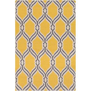 Rivington Bright Yellow and Gray Rectangular: 2 Ft. x 3 Ft. Rug