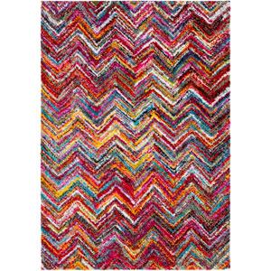 Rainbow shag Multicolor Rectangular: 2 Ft. x 3 Ft Rug