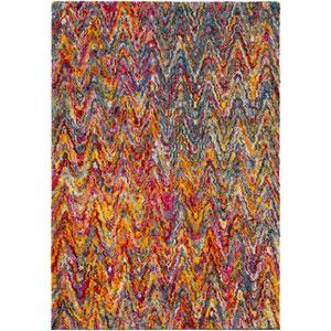 Rainbow shag Multicolor Rectangular: 2 Ft. x 3 Ft. Rug