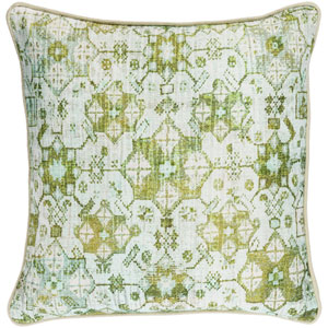 Roxana Green 18-Inch Pillow with Poly Fill