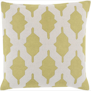 Taste of Trellis Lime 20-Inch Pillow with Poly Fill