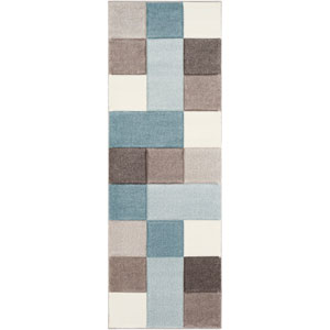 Santa Monica Blue Runner: 2 Ft. 7 In. x 7 Ft. 6 In. Rug