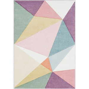 Santa Monica Multicolor Rectangle: 5 Ft. 3 In. x 7 Ft. 6 In. Rug
