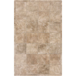 Saddle Taupe and Light Gray Rectangular: 2 Ft x 3 Ft Rug