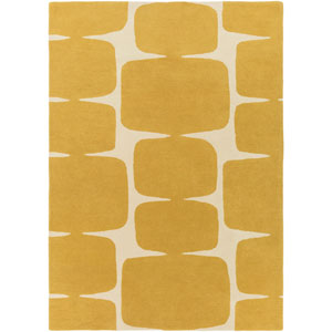 Scion Yellow and Neutral Rectangular: 2 Ft x 3 Ft Rug by Scion