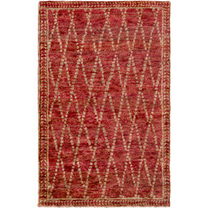 Scarborough Red and Neutral Rectangular: 5 Ft. x 8 Ft. Area Rug