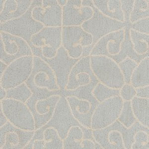 Scott Light Gray and Cream Rectangular: 2 Ft. x 3 Ft Rug