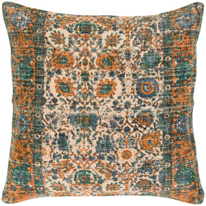 Shadi Neutral and Blue 30-Inch Pillow Cover