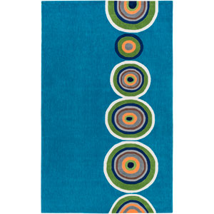 Skidaddle Blue and Green Rectangular: 3 Ft x 5 Ft Rug