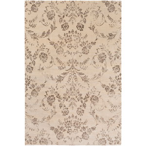 Saverio Neutral and Brown Rectangular: 2 Ft. 1-Inch x 3 Ft. Rug