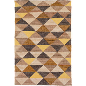 Seaport Neutral and Brown Rectangular: 5 Ft x 7 Ft 6 In Rug