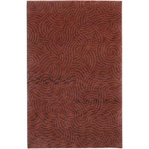 Shibui Red and Burgundy Rectangular: 2 Ft. by 3 Ft. Rug