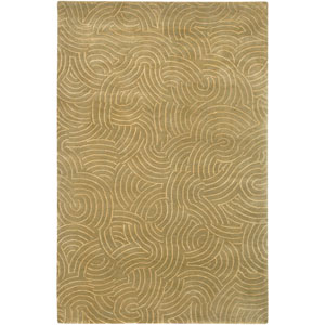 Shibui Beige and Pale Moss Rectangular: 2 Ft. by 3 Ft. Rug