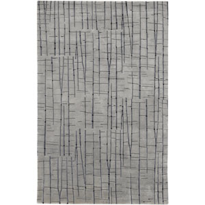 Shibui Grey and Blue Rectangular: 2 Ft. by 3 Ft. Rug