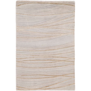 Shibui Grey and Beige Rectangular: 2 Ft. by 3 Ft. Rug