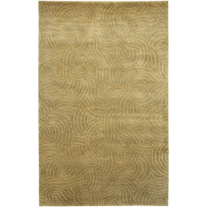 Shibui Pale Moss and Mint Rectangular: 2 Ft. by 3 Ft. Rug