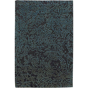 Shibui Brown and Turquoise Rectangular: 2 Ft. by 3 Ft. Rug