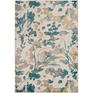 Steinberger Neutral and Green Rectangular: 2 Ft. x 3 Ft. 3-Inch Rug